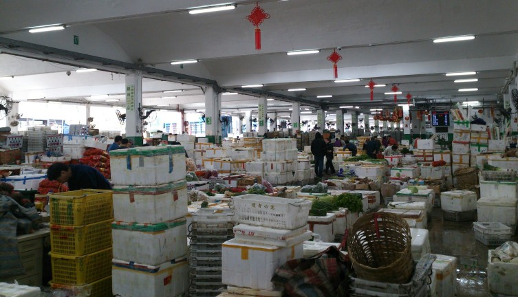 Wholesale vegetable market in Cheung Sha Wan, Kowloon side