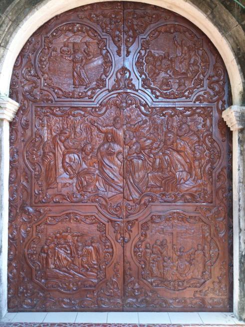 Carvings in the church door