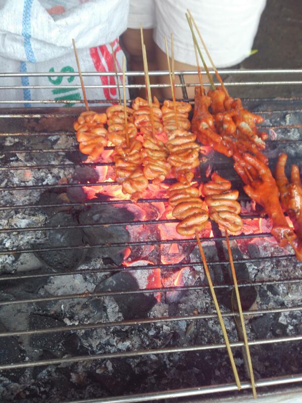 grilled chicken intestine