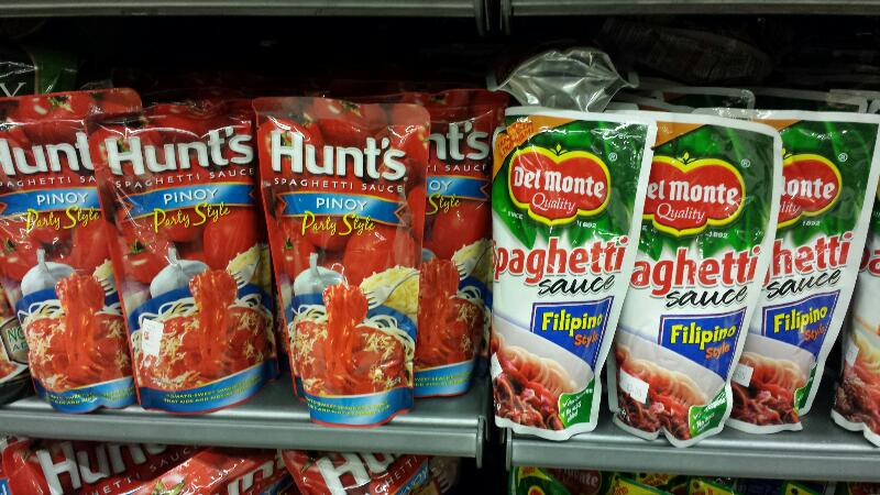 Plenty Of Branded Pre Made Filipino Style Spaghetti Sauce For The Big Market In The Country And The Filipino Marts Worldwide